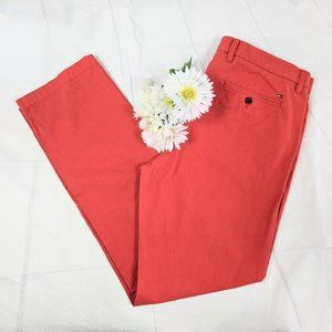 Tommy Hilfiger Custom Fit Red Chinos SZ 36 x 34